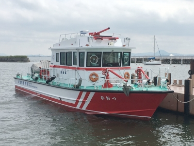 琵琶湖の 消防艇おおつ