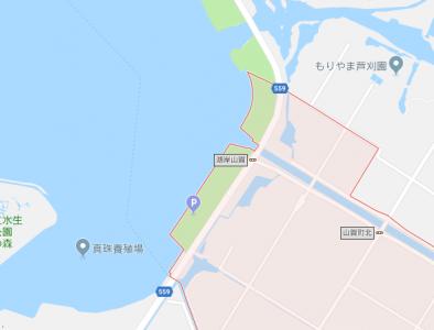 守山市山賀町河口付近の地図