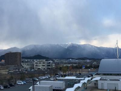 比良山に怪しい雲(2月6日14時20分頃)