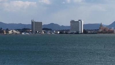 またも爆風で大荒れの琵琶湖(YouTubeムービー)