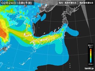 tenki.jp PM25分布予測(2月24日18時)