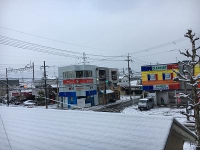 堅田の雪は未明には止みました(1月14日7時30分頃)