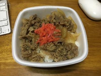 吉野家の牛丼並盛り 今日も美味しくいただきました!!