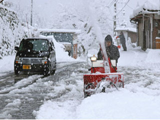 32cmの積雪になった長浜市余呉町