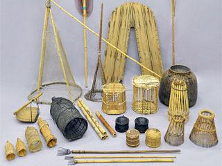 国有形民俗文化財に登録される見通しになった琵琶湖の古漁具