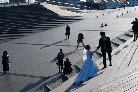15みなとみらい大さん橋結婚記念写真