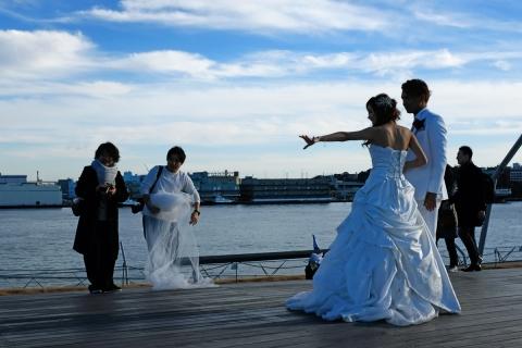 17みなとみらい大さん橋結婚記念写真