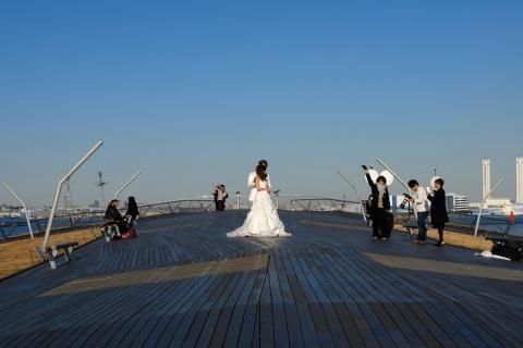 18aみなとみらい大さん橋結婚記念写真