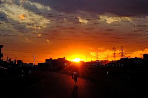 07a鶴見川の落日