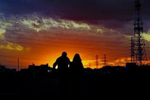 07鶴見川の落日
