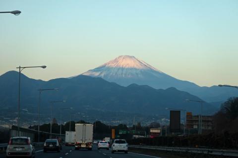 00助手席からの富士山