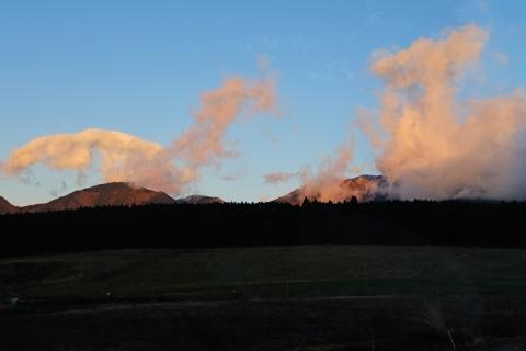 06早朝の朝霧高原へ