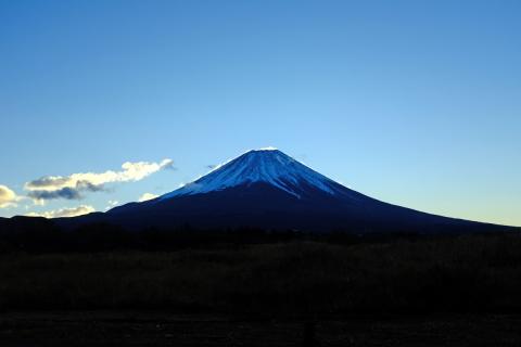 02朝霧高原の富士山