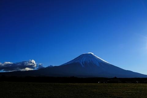 11朝霧高原の富士山帰路