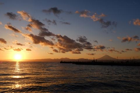 16江の島落日