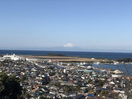 20171125房総半島(館山市)からの富士05