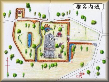 椎名内城縄張り図