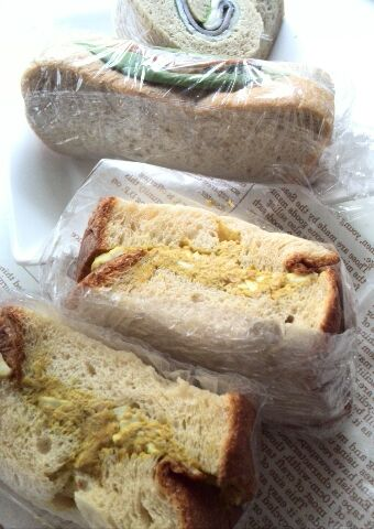 シンプル大豆パンのサンド