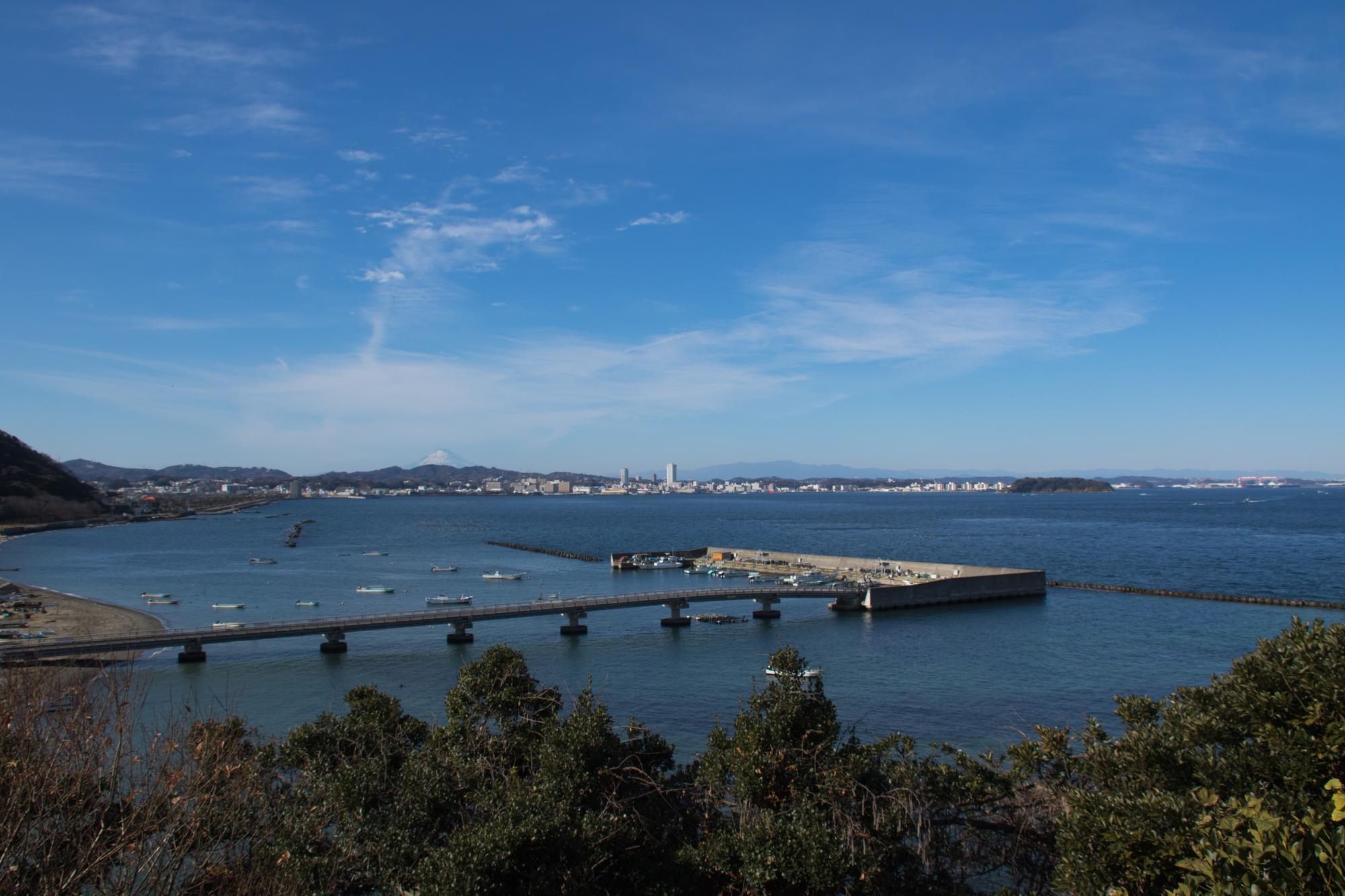 20180107_東京湾と富士山