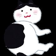 ネコ(白黒