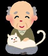 ネコ(ネコを抱く