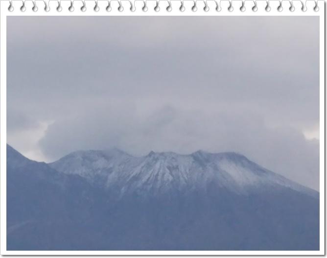 桜島初冠雪3-2