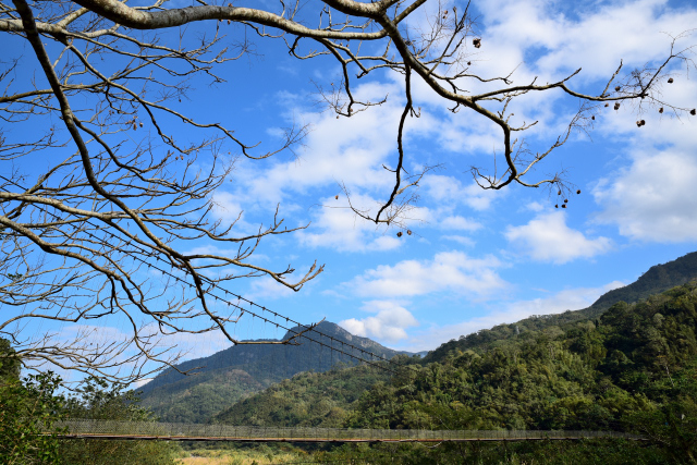 吊り橋のある風景(1)