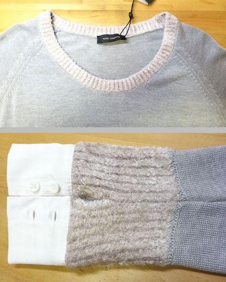copカフスモールニット襟ぐり袖丈4