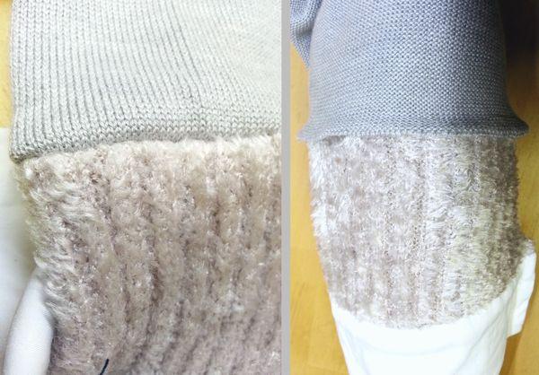 copカフスモールニット襟ぐり袖丈11