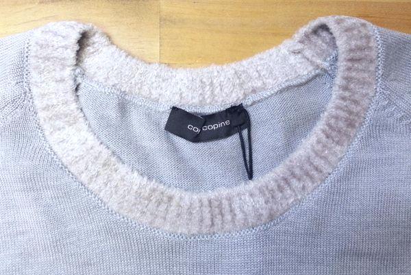 copカフスモールニット襟ぐり袖丈19