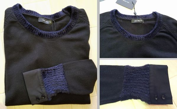 copカフスモールニット襟ぐり袖丈21