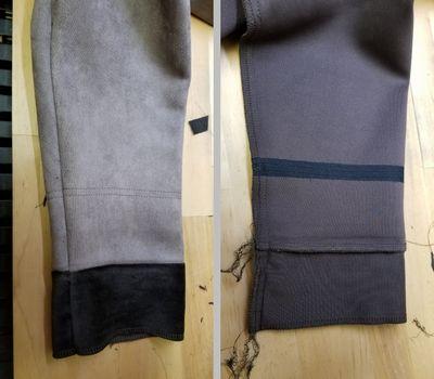 スエードコート袖口に下駄10