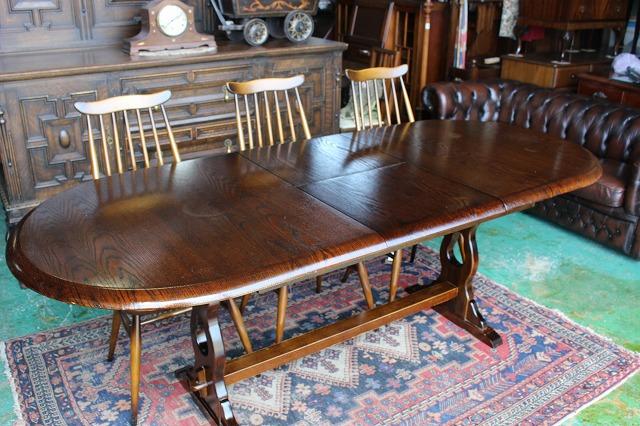 イギリスアンティーク家具 伸長式/ダイニングテーブル