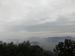 弥山頂上:皇太子殿下御展望跡からの眺望