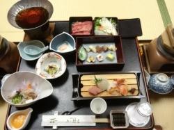 ホテル みや離宮:刺身、穴子の食べ比べ、他