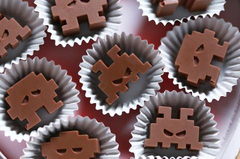 インベーダーの手作りチョコ菓子