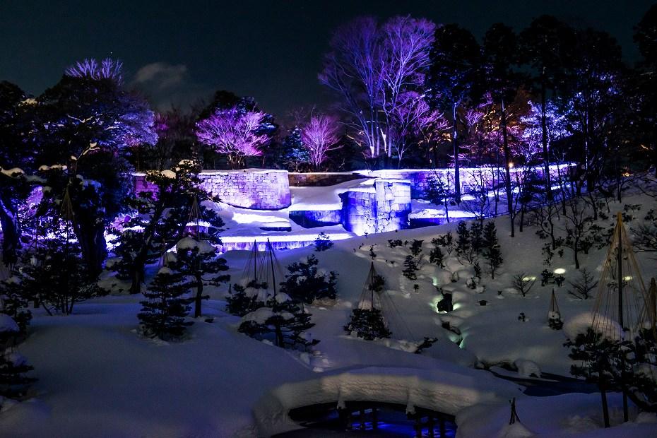 2018.02.08 玉泉院丸庭園のライトアップ 3