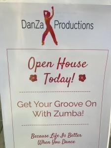 DanZa Open House sign