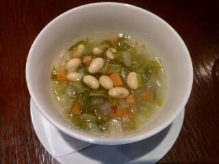 野菜スープ大豆入り