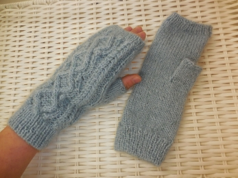 手編みの手袋 (7)