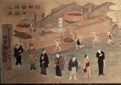 押絵扁額(野田醤油醸造之図) (2)