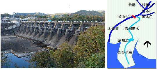 兼山ダムマップ