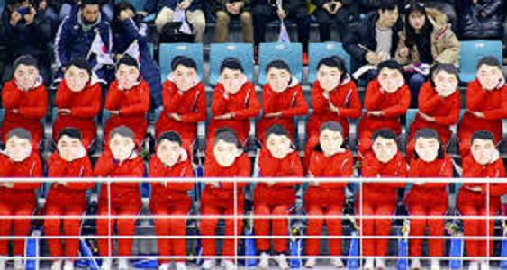 北朝鮮 オリンピック お面 2