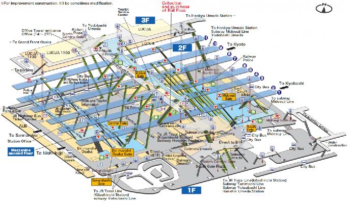 大阪  駅  マップ