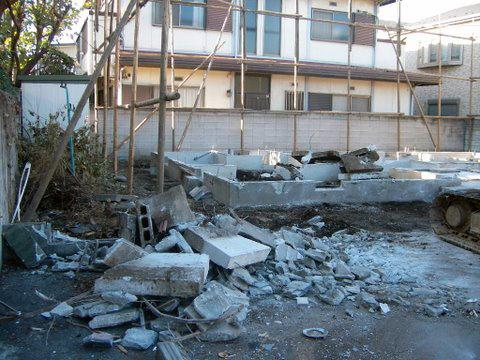 コーポラティブハウスと解体工事7