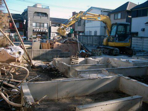 コーポラティブハウスと解体工事8