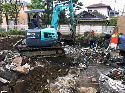 コーポラティブハウスと解体工事3