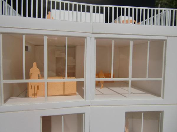 コーポラティブハウス模型GB-6