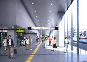 原宿駅建替後のコンコース