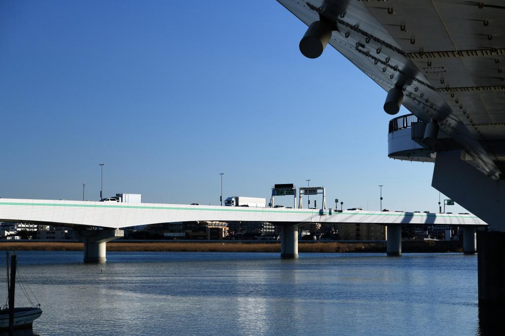 大師橋下から望む首都高大師橋